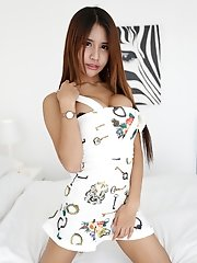 19yo busty Thai ladyboy gets white cock stuffed up her ass