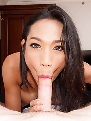 Ladyboy Natty - Yellow Bikini & Gaped For Sperm