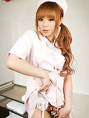 Japanese Ladyb Kaede Loves Playing Doctor. She Wants To Use Her Sthetoscope To Hear Your Cock Pulsing In Her Eager Hands.
